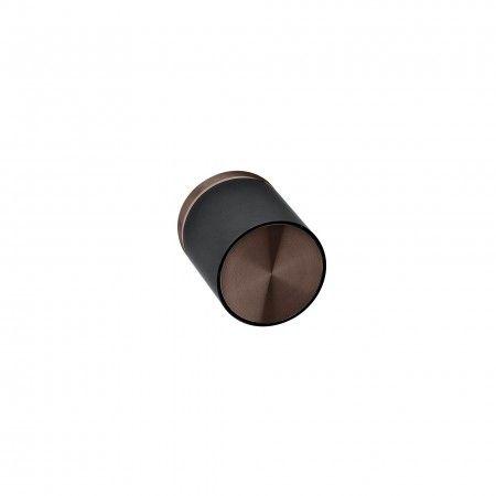 Turning knob Loft with metallic rose RC08M - Titanium Chocolate