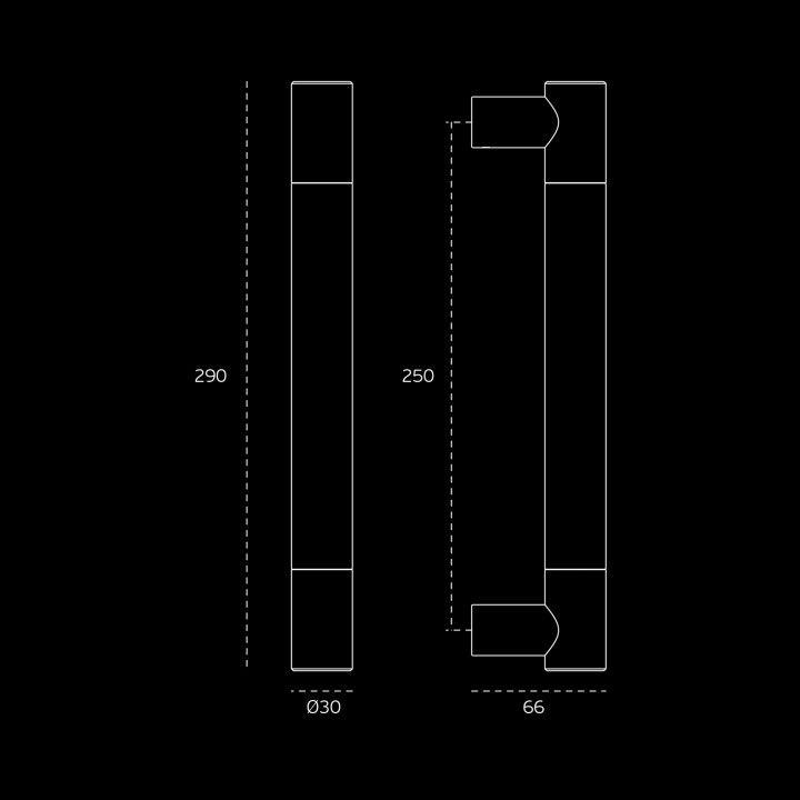 Manillon de puerta Loft - Titanium Copper