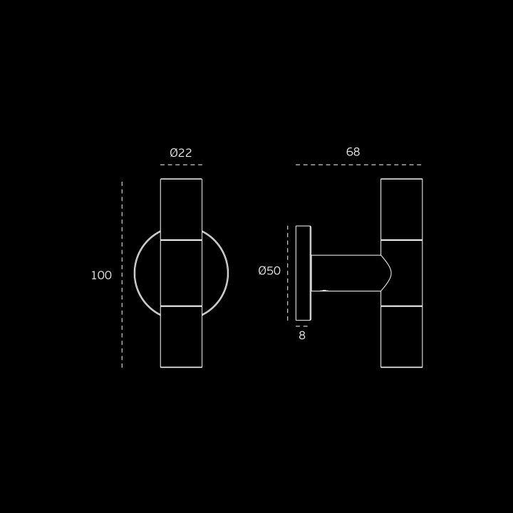 """Puxador de porta """"Loft"""" - TITANIUM COPPER"""
