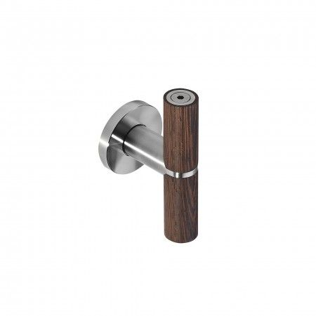 Lever handle Wenge with metallic rose RC08M