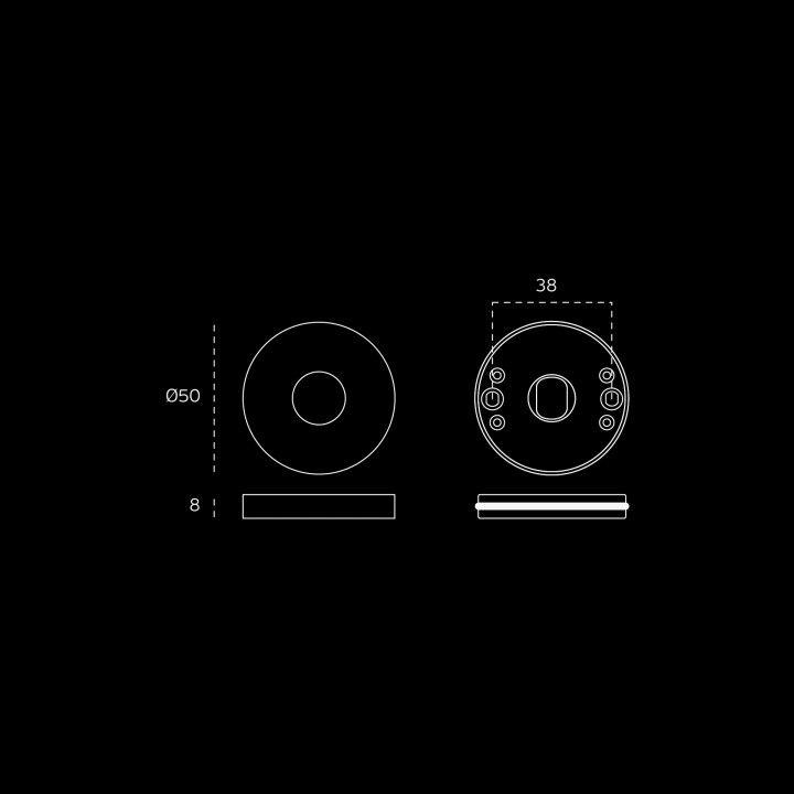 Manilla de puerta Wenge - Titanium Black