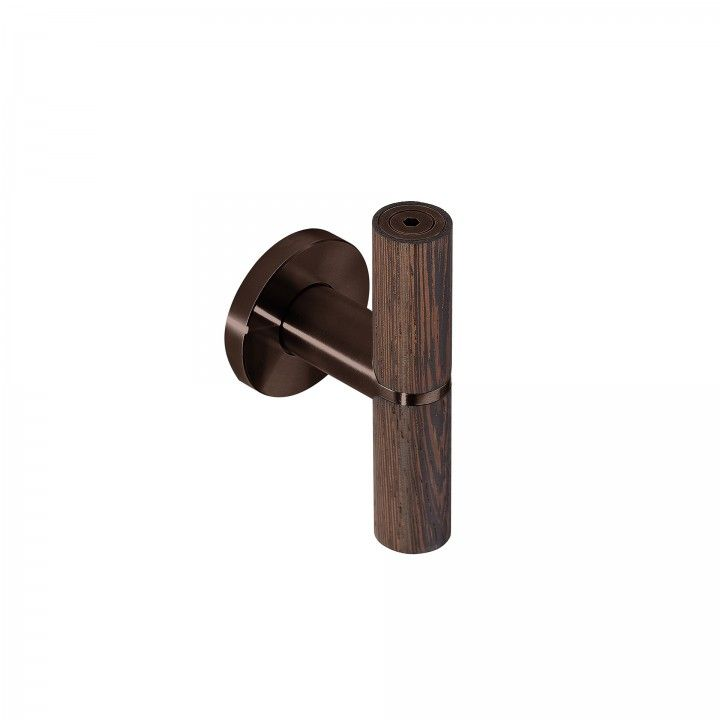 Lever handle Wenge - Titanium Chocolate