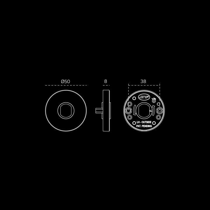 Manilla de puerta Drive Black con roseta metalica RC08M - Pulido