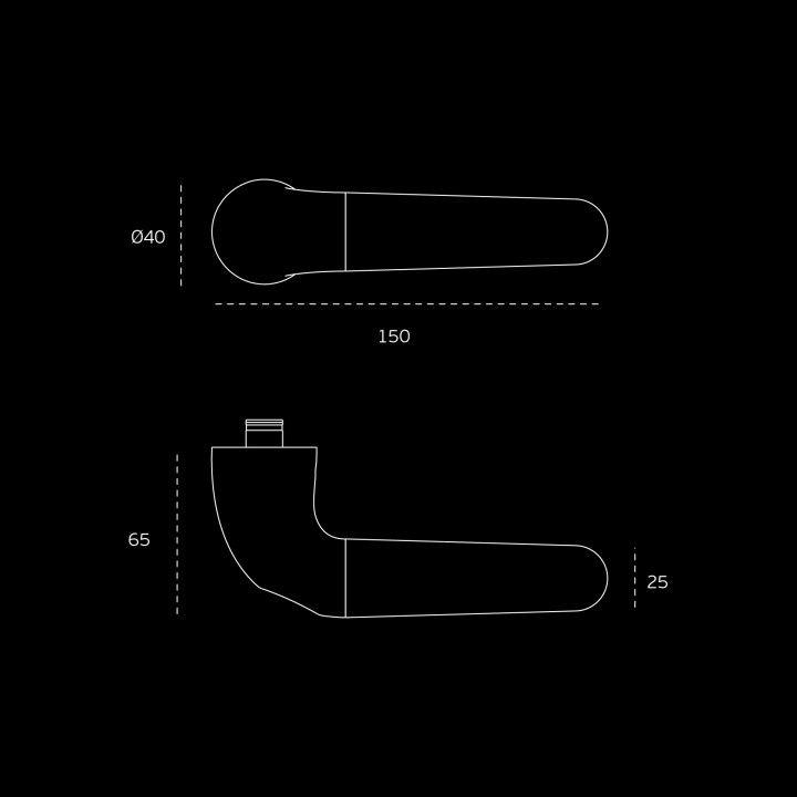 Manilla de puerta Drive Inox con roseta metalica RC08M - Pulido