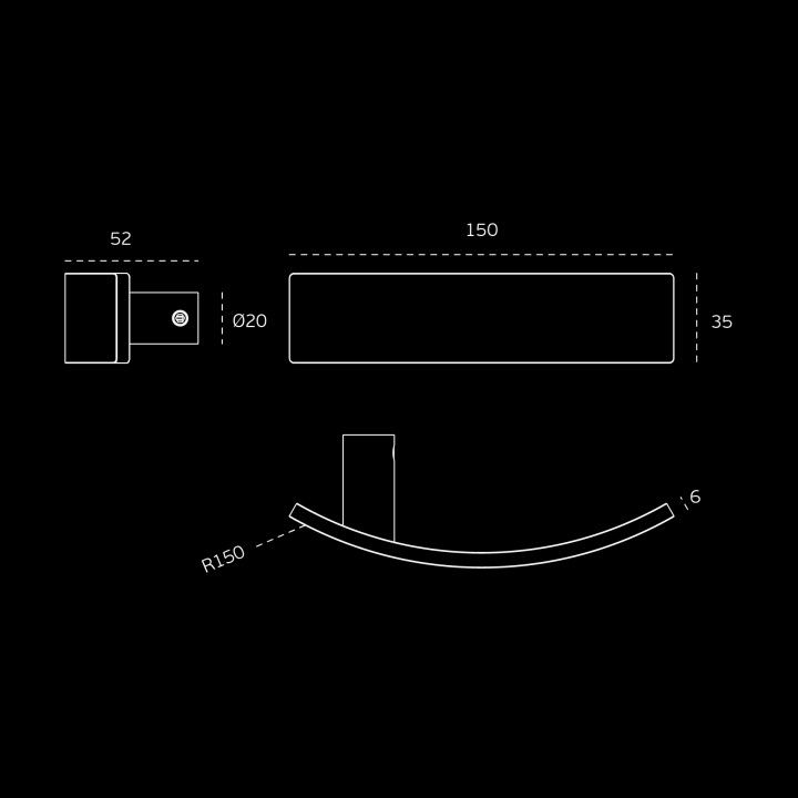 Lever handle Arch - TITANIUM CHOCOLATE