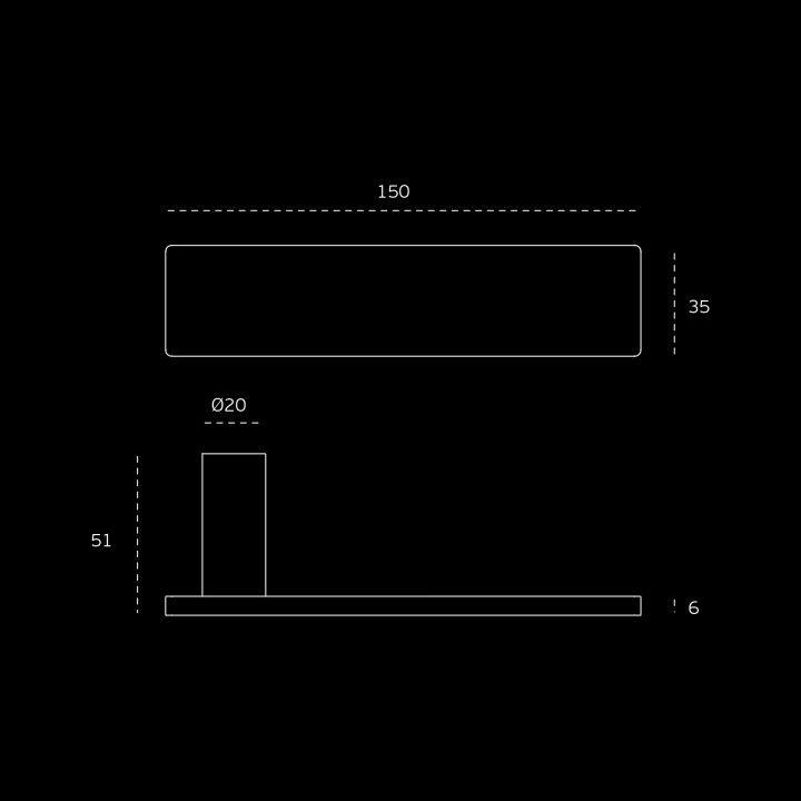 """Puxador de porta """"Leaf"""", com roseta metálica RC08M"""