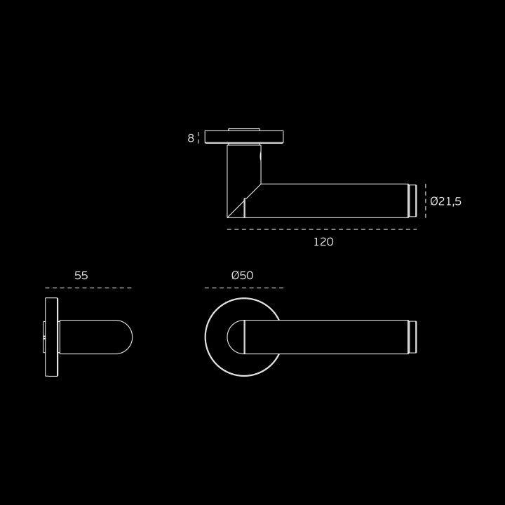 Lever handle Link Concrete  - Titanium Copper