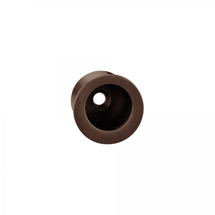 Round Flush handle - Ø30mm Titanium Chocolate