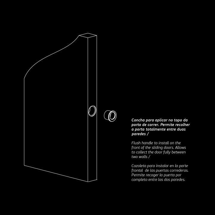 Round Flush handle - Ø30mm Titanium Copper