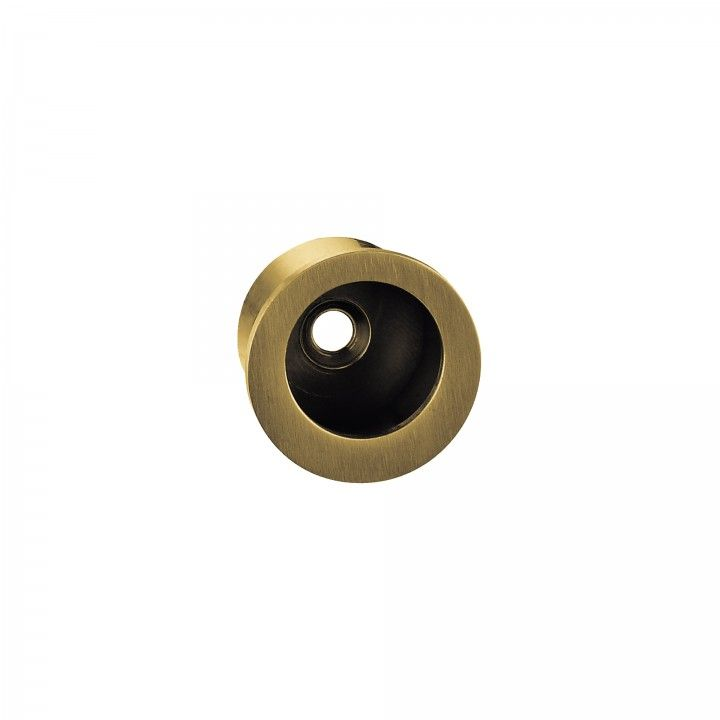 Round Flush handle - Ø30mm Titanium Gold