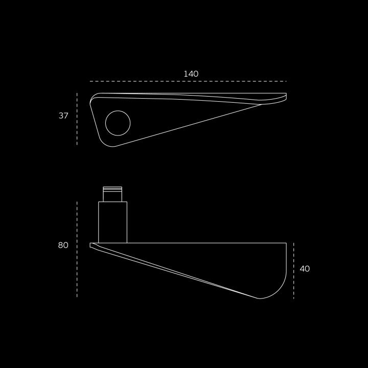 Lever handle Paper form - Titanium Gold