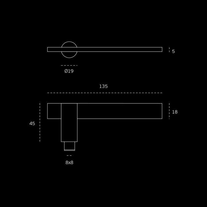 Puxador de porta, com roseta metálica RC08M - Titanium Black