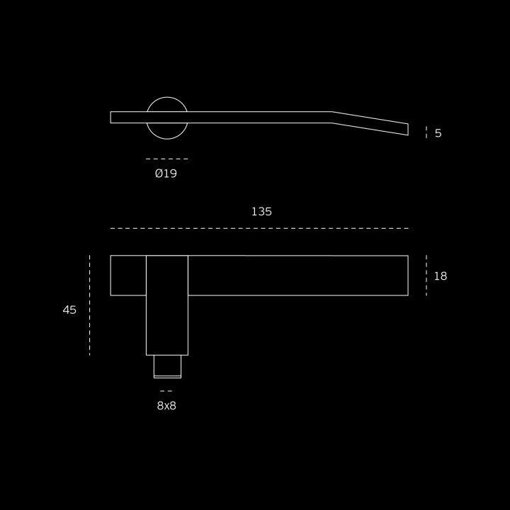 Lever handle, with metallic rose RC08M - Titanium Gold