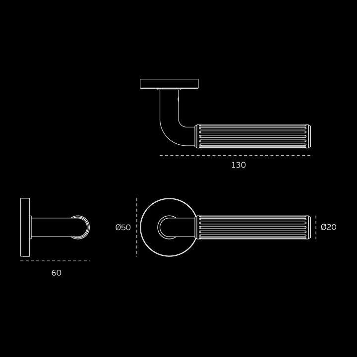 Lever handle TIMELESS - NEW YORK - Titanium Black