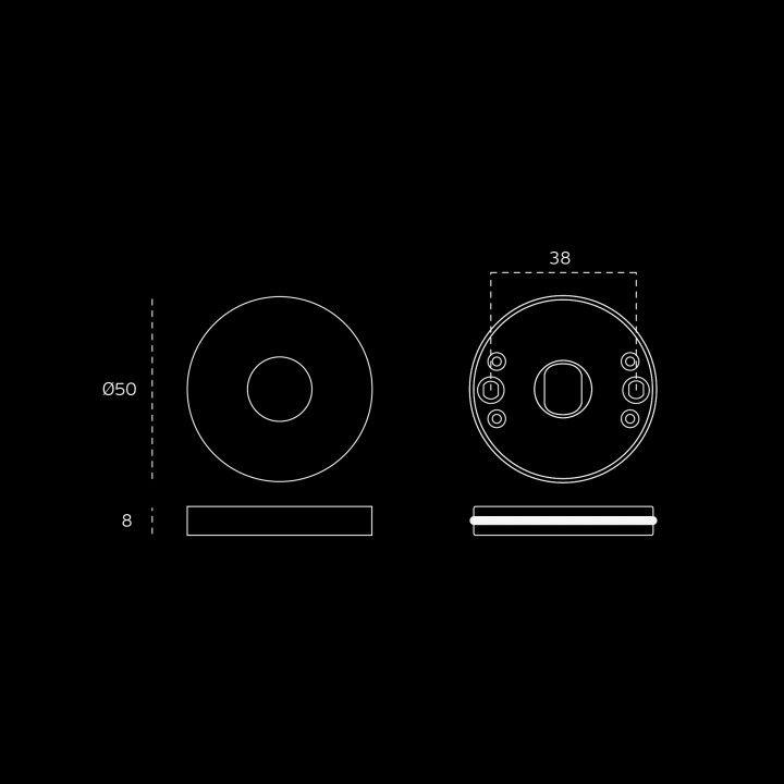 Manilla de puerta - Ø16mm