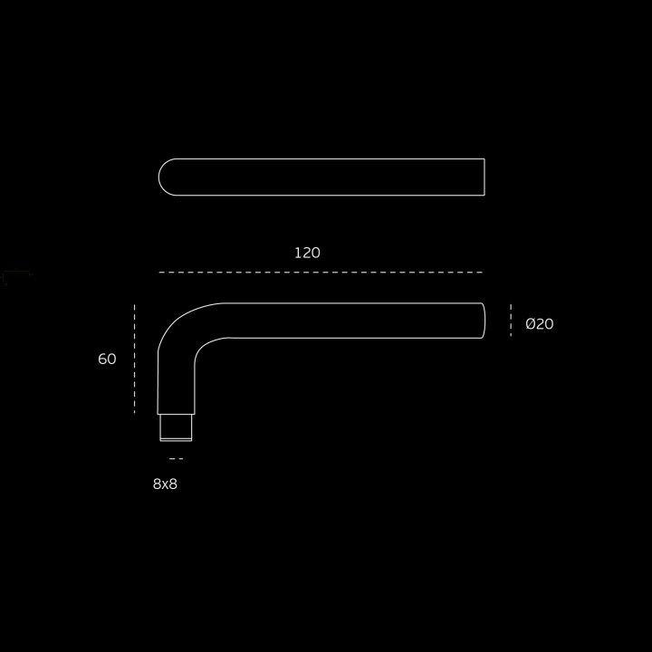 Puxador Maciço Ø20mm - Titanium Black