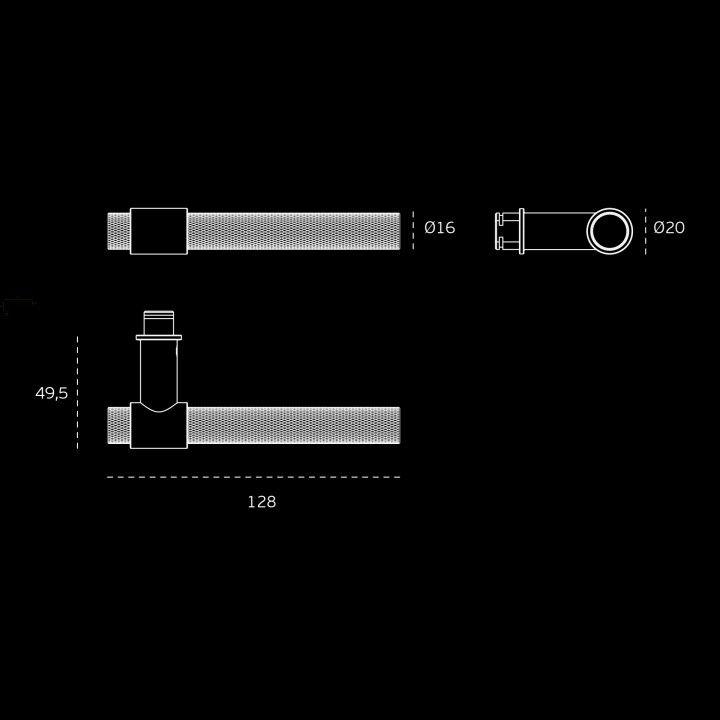 Lever handle Ø16mm - STOUT WATCH - Titanium Chocolate