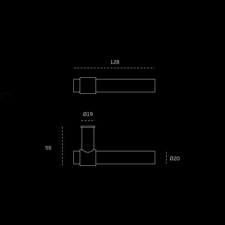 Puxador de porta com roseta metálica RC08M - Titanium Copper