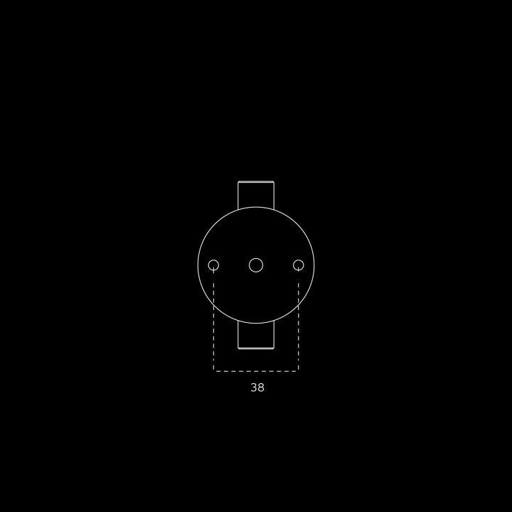 Torniquete fixo STOUT (Ø16) - Titanium Gold