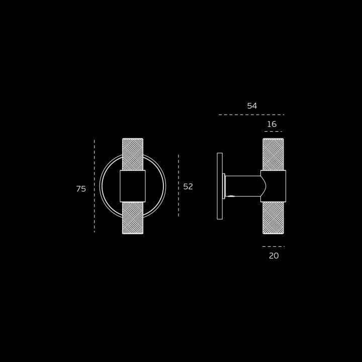 Fixed tourniquet STOUT WATCH (Ø16) - Titanium Gold