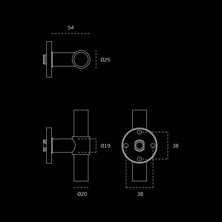 Torniquete fija STOUT - Titanium Black