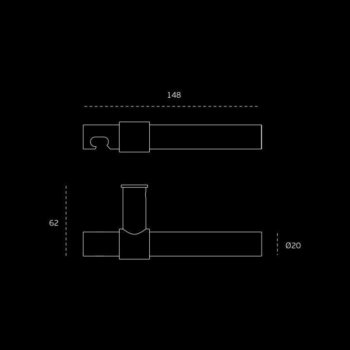 Manilla de puerta Funny Stout - RC08M - Titanium Gold