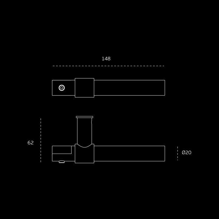 Lever handle FUNNY STOUT -CLIP - TITANIUM BLACK