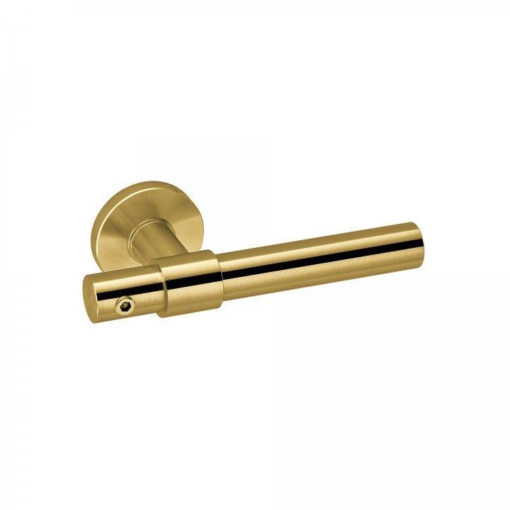 Lever handle FUNNY STOUT -CLIP - TITANIUM GOLD