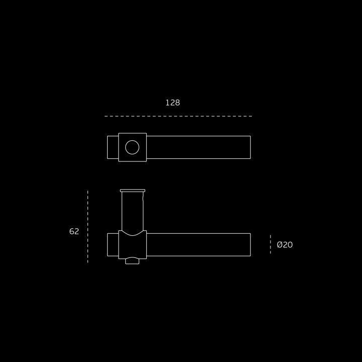"Puxador de porta ""Funny Stout - batente"" RC08M - Titanium Black"