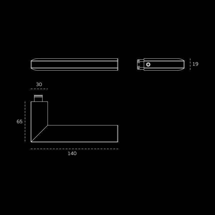 Lever handle - Titanium Black