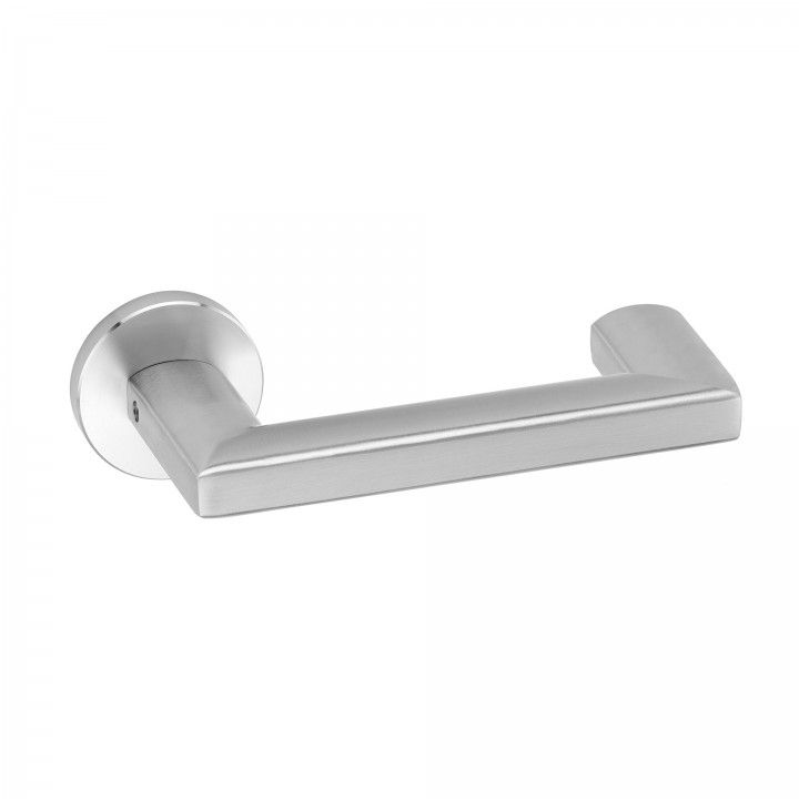 Lever handle, with metallic rose RC08M