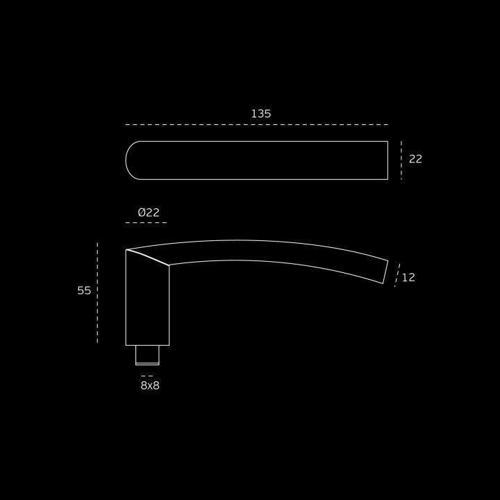Lever handle with metallic rose RC08M - Titanium Black