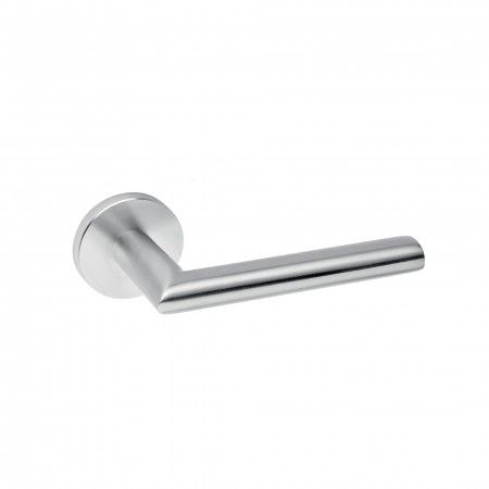 Lever handle - Oval, with metallic rose RC08M