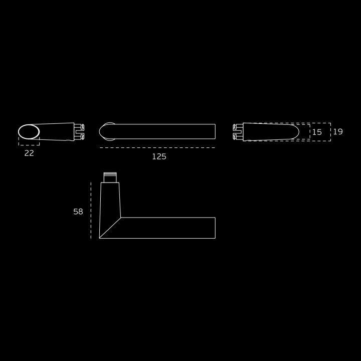 Manilla de puerta con roseta metalica RC08M - Titanium Gold