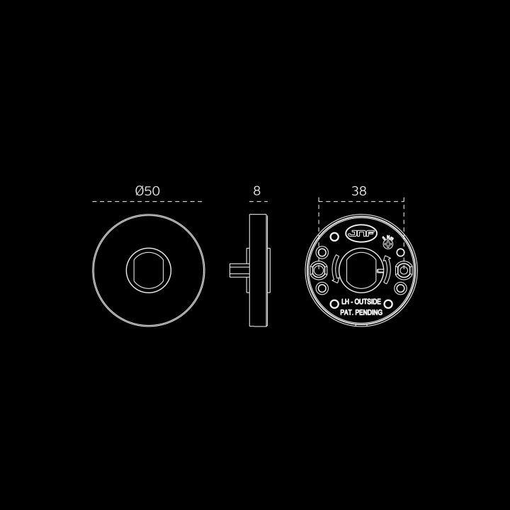Manilla de puerta Picasso - Titanium Black