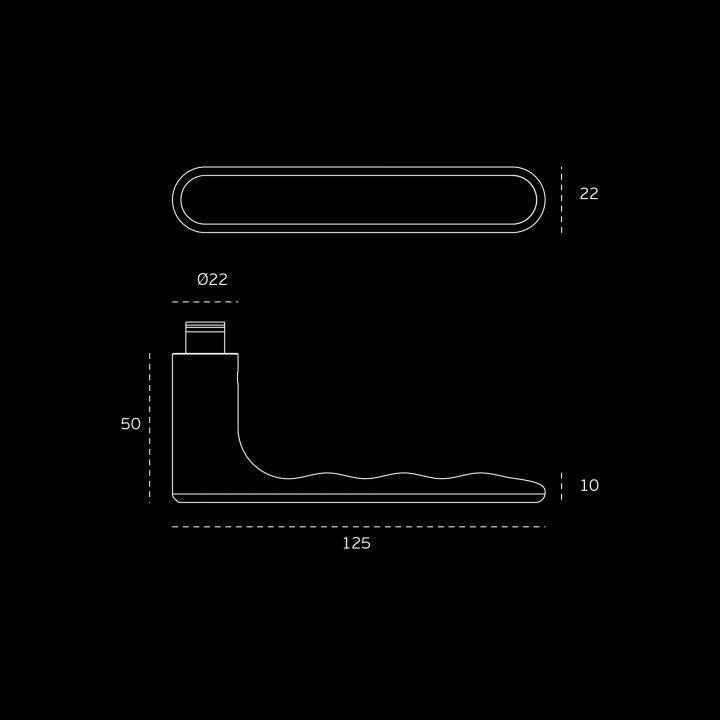 Puxador de porta - Tokyo Easy fix - Titanium Black
