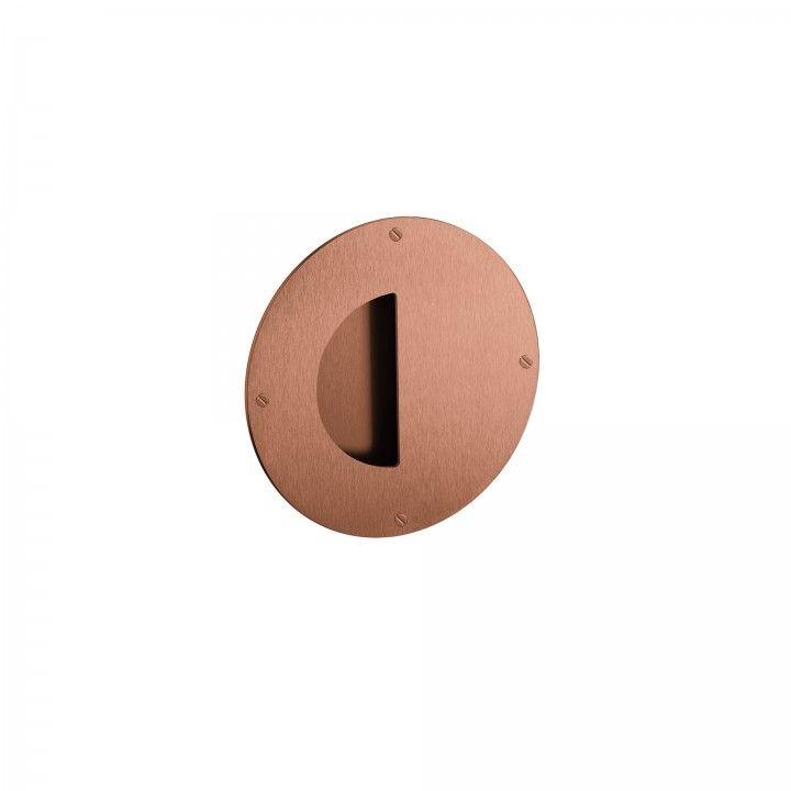 Round flush handle - Titanium Copper