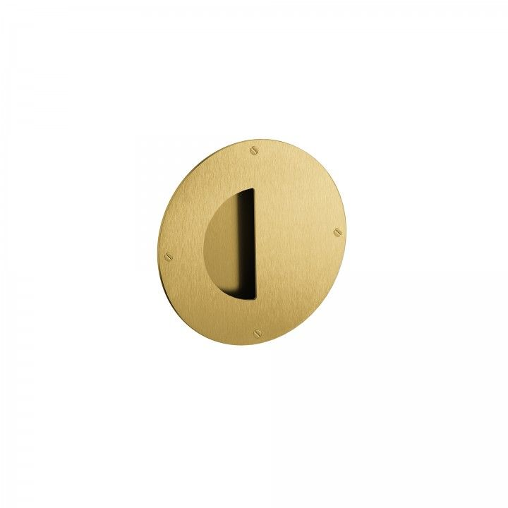Concealed flush handle - Titanium Gold