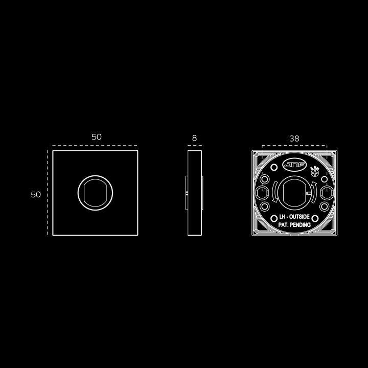 Puxador de porta - Kyoto Easy Fix - Titanium Black