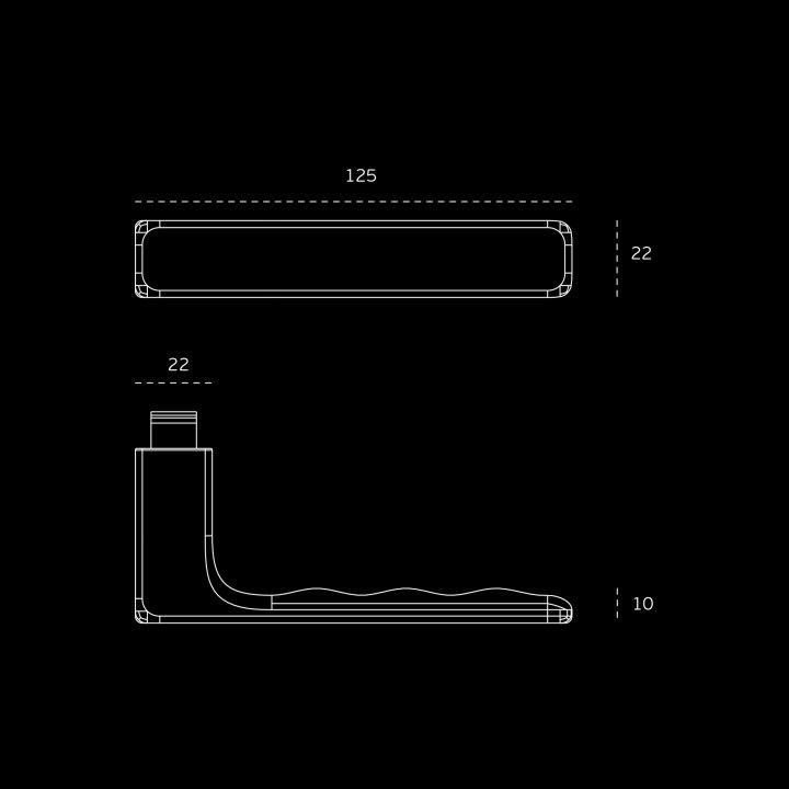 Lever handle - Kyoto Easy fix - Titanium Chocolate