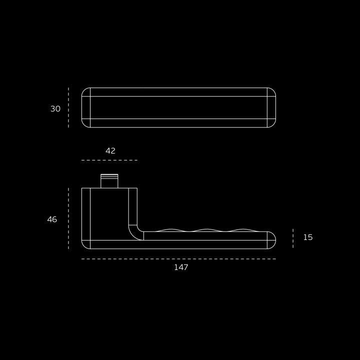 Lever handle OSAKA Easy Fix - TITANIUM COPPER