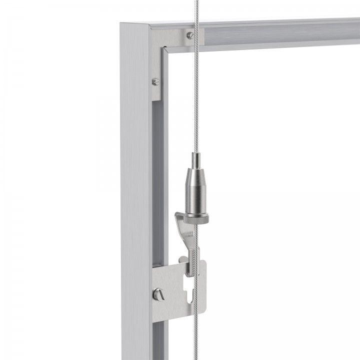 Hook for frame suspension system.