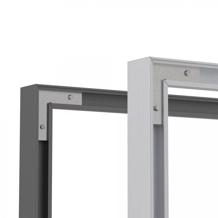 Blacj lacquered aluminum profile for frame (3000mm)