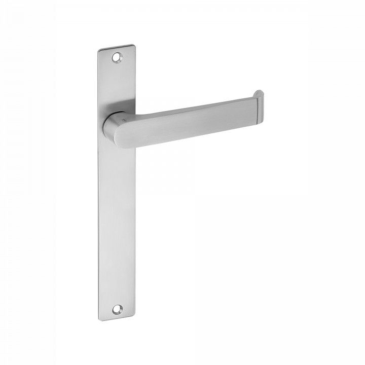 Handle on plate for european cylinder, without spring - 215 x 29mm