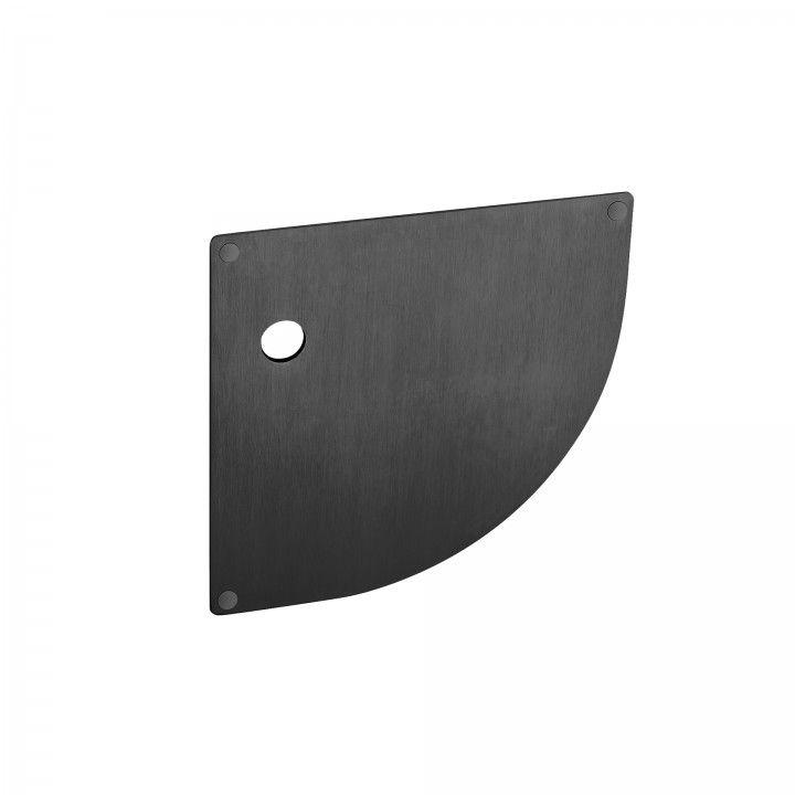 Placa para cilindro europeu, com mola - 180 x 180mm - Titanium Black
