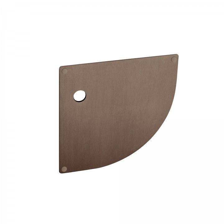 Plate for european cylinder with spring - 180 x 180mm - Titanium Chocolate