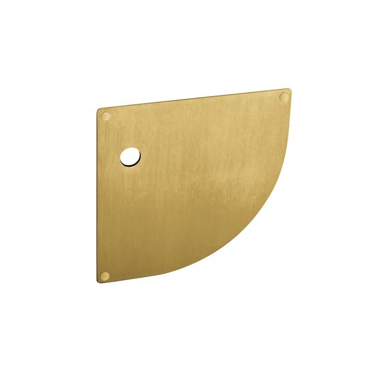 Plate for european cylinder with spring - 180 x 180mm - Titanium Gold