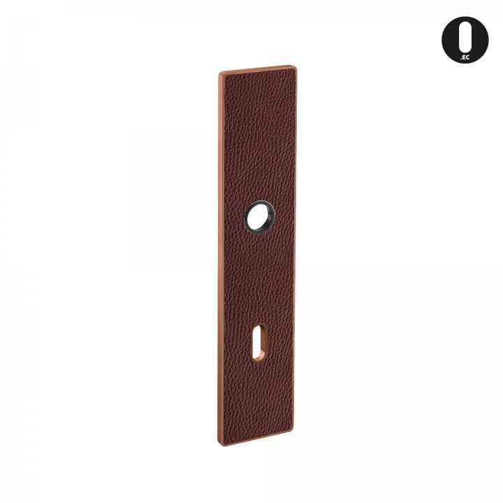 Placa ART PLATE - Cuero natural marrón+ Titanium Copper