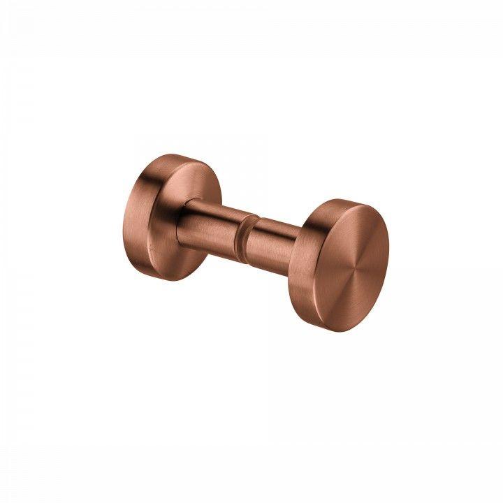 Fixed knob for glass doors - Ø50mm - Titanium Copper