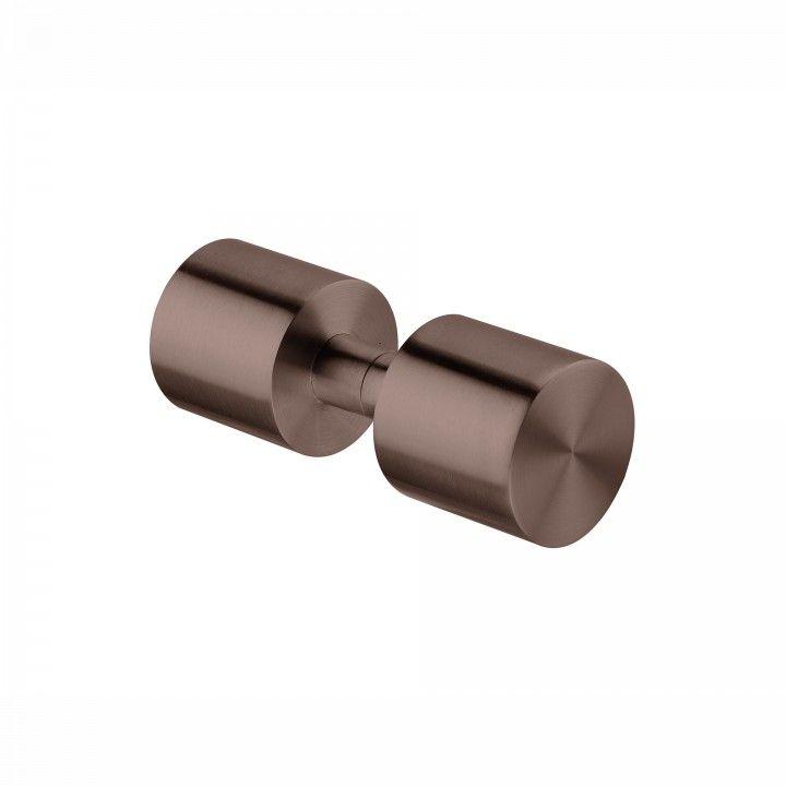 Pomo Fijo para puerta de cristal- Ø50mm - Titanium Chocolate